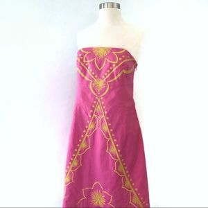 Lilly Pulitzer Hotty Pink Embroidered Bowen Dress